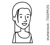 beautiful woman avatar character | Shutterstock .eps vector #733299151