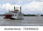 Steamboat On Mississippi River...