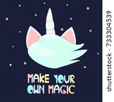make your own magic. fashion...   Shutterstock .eps vector #733304539