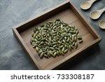 Pumpkin Seeds In A Wooden Tray...