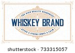 whiskey logo with vintage frame | Shutterstock .eps vector #733315057