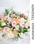 beautiful modern wedding... | Shutterstock . vector #733324654