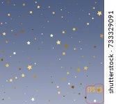gold stars. confetti... | Shutterstock .eps vector #733329091
