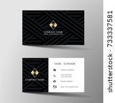 modern business card template... | Shutterstock .eps vector #733337581
