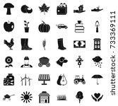 mushroom icons set. simple... | Shutterstock .eps vector #733369111