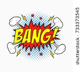comic speech bubbles with... | Shutterstock .eps vector #733373545