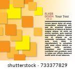 orange and yellow square... | Shutterstock .eps vector #733377829