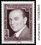Small photo of Vienna, Austria - June 5, 1984: Ralph Benatzky (1884-1957), Austrian composer of Czech origin, who composed operas and operettas. Stamp issued by Austria Post in 1973.