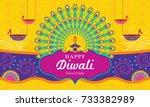 happy diwali  festival of light ...   Shutterstock .eps vector #733382989