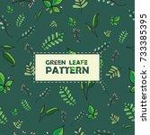 green nature leaf pattern...   Shutterstock .eps vector #733385395
