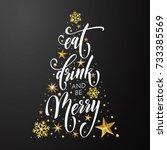 christmas greeting card eat ...   Shutterstock .eps vector #733385569