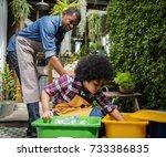 african descent kid separating...   Shutterstock . vector #733386835