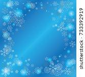 clubs shaped frame or border... | Shutterstock .eps vector #733392919
