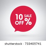 10  offer label sticker  sale... | Shutterstock .eps vector #733405741