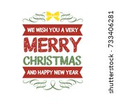 christmas greeting   new year | Shutterstock .eps vector #733406281