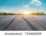 asphalt road circuit and sky... | Shutterstock . vector #733406509