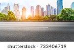 shanghai lujiazui financial... | Shutterstock . vector #733406719