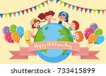 happy children's day poster... | Shutterstock .eps vector #733415899