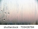 condensate on the glass of the...   Shutterstock . vector #733428784