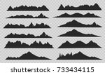 Mountains Silhouettes On The...