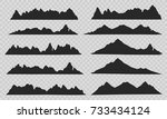 mountains silhouettes on the... | Shutterstock .eps vector #733434124