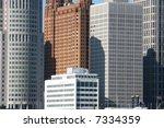 view of detroit skyline from... | Shutterstock . vector #7334359