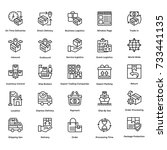 logistic delivery vector icons... | Shutterstock .eps vector #733441135
