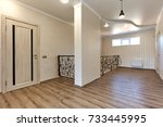 entrance hall  with a beautiful ...   Shutterstock . vector #733445995