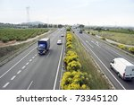 general view of a highway with...   Shutterstock . vector #73345120