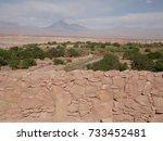 view with licancabur volcano...   Shutterstock . vector #733452481