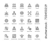 project management vector icons ... | Shutterstock .eps vector #733453219