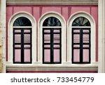 retro singapore shop house...   Shutterstock . vector #733454779