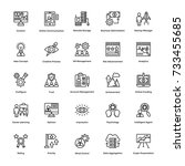 project management vector icons ... | Shutterstock .eps vector #733455685