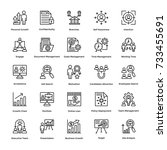 project management vector icons ... | Shutterstock .eps vector #733455691