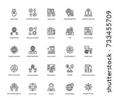 project management vector icons ... | Shutterstock .eps vector #733455709