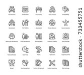 project management vector icons ... | Shutterstock .eps vector #733455751