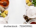 top view of background with... | Shutterstock . vector #733459981