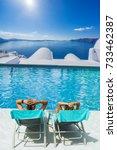 couple on summer holidays... | Shutterstock . vector #733462387