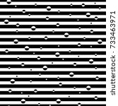 geometric seamless black and... | Shutterstock .eps vector #733463971