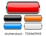 rectangle buttons set with bold ... | Shutterstock .eps vector #733465945