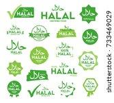 muslim traditional halal food... | Shutterstock .eps vector #733469029