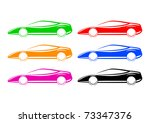 collection of cars | Shutterstock .eps vector #73347376