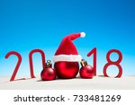 festive new years concept with... | Shutterstock . vector #733481269