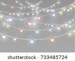 christmas lights isolated on...   Shutterstock .eps vector #733485724