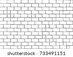 white bricks wall. seamless... | Shutterstock . vector #733491151