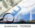 collage of various business... | Shutterstock . vector #73350058