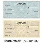 check  cheque   chequebook... | Shutterstock .eps vector #733504687