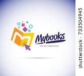 my books logo concept. online... | Shutterstock .eps vector #733504945