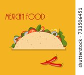 taco mexican food isolated on... | Shutterstock .eps vector #733506451