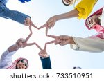 Group Of Diverse Hands Together ...